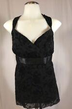 NWT AB Studio Women's Sleeveless Cami Style Top Black XL