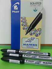 3 pcs Pilot CD/DVD Marker extra fine point BLACK INK **FREE shipment