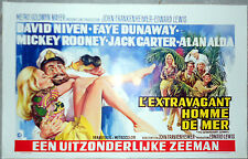 Affiche EXTRAVAGANT HOMME DE MER Extraordinary Seaman DAVID NIVEN AFF. Belge