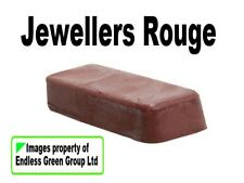 Jewellers Rouge - fine metal polish for Gold Silver Brass Copper Pewter 110g bar