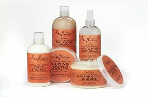 Shea Moisture Organic Coconut & Hibiscus Haircare Bundle Pack of 5