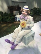 Schmid Be A Clown Porcelain Music Box . Signed By Artist