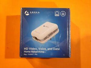Asoka PlugLink ETH-500 High Speed 500 Mbps HomePlug Powerline Ethernet Adapter