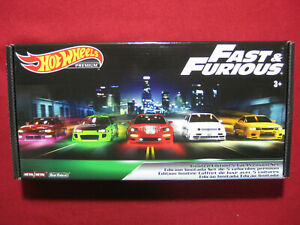 Fast and Furious Hot Wheels Premium Box 5 Pack Real Riders Complete Full Set