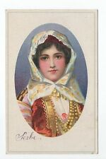 RUSSIE Russia Théme Types russes costumes personnages jolie jeune fille serbe