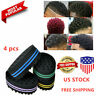4pc Double Sided Barber Hair Brush Dread Sponge Locking Twist Coil Wave Styling