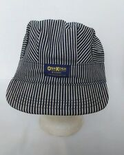 OshKosh Striped Train Engineer Railroad Hat Cap Mens Adult Made in USA Vintage