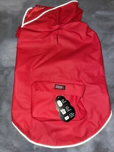 Kong Packable Dog Rain Jacket Red - Medium
