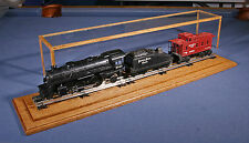 "25"" O-Scale Model Train Case crafted in Golde Oak w/Track by Oak Hill Crafts -C9"