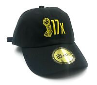 17th Championship Dad Hat (Lakers Gold) Black Snapback