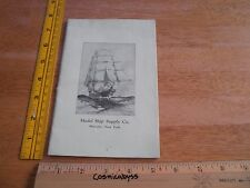 1920s Model Ship building Supply Company catalog New York 31 pgs VINTAGE