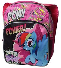 """My Little Pony Pony Power Pink Cape Sparkle Side Mesh Pockets 16""""  Backpack"""