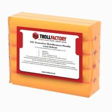 TFC Formenbau Modelliermasse orange Plastilin weich bleibend 1000g Knetmasse