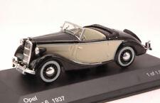 Opel Super 6 Spider 1937 Black / Beige 1 43 Model Whitebox