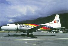 Air Venezuela Convair CV-580 YV-969C at Merida (MID) Postcard