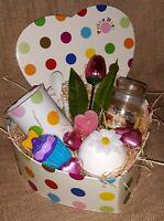 LADIES HAMPER GIFT SET MUG CHOC BATH BOMB CANDLE BIRTHDAY Easter Get Well FRIEND