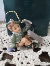 Goebel Berta Hummel Gift Collection Just One Ski Left Christmas Ornament Nib