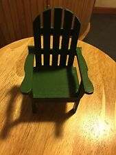 "Miniature Adirondack Chair. 3.5""W X 3.5"" L X 6"" H. (Handmade By My Dad)"