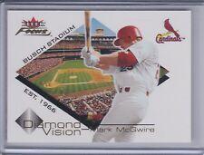 MARK McGWIRE 2001 Fleer Focus Diamond Vision #DV-5 (C6022)