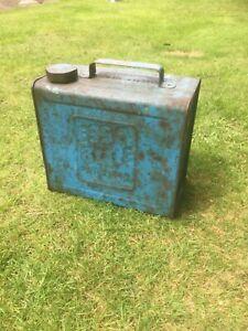 Vintage Rare 50s Valor Esso Blue 2 gal Paraffin can