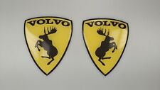 VOLVO Prancing Moose silicone decals stickers   73 x 60mm badge set x 2