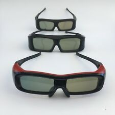 Panasonic Active EXpand 3D Glasses, Lot of Three Pairs for Two Adults One Child