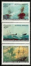 Chile 1979 Scott # 537 - 539 Pacific War - Naval Battles - Ships Mnh