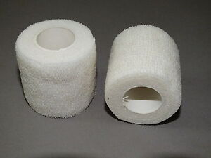 20 BANDAGES COHESIVE 5cm x4.5mt WHITE WRIST ANKLE OR DOGS CATS ANIMALS 2 inch
