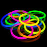 "100 x 8"" Glow Sticks Bracelets Pack Neon Colours - Bracelets, Necklaces"