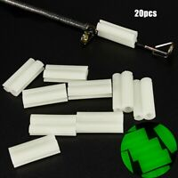 20 PCS Light Stick Clip on Holder Fluorescent Fit 3mm-4mm Rod Tip Night Fishing