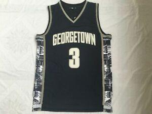 Allen Iverson #3 Georgetown Hoyas Basketball Jersey Black & Gray| S-4XL