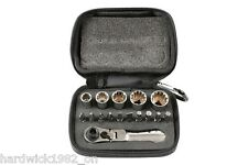 LASER TOOLS 6398 Socket and Bit Set 16pc 1/4 Drive socket driver with flexihead