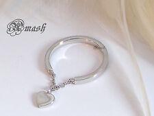 Anillo de plata esterlina, Corazón Anillo encanto colgante, enlace Londres, vinculados Amor Anillo 5/K
