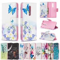 For Xiaomi Redmi K20 7A Note 7 Painted Wallet Leather Flip Stand Card TPU Cover