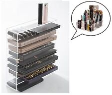 Cosmetic Organizer Stand for Makeup, Acrylic, Clear Vanity Counter Beauty Case