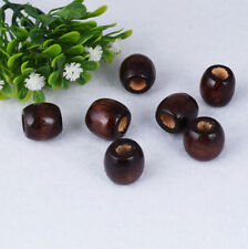 Nice Coffee Natural Wood Big-hole Loose Spacer Beads Jewelry Findings DIY