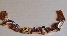"""""""I LOVE BEANIES"""" CHARM SLIDER SLIDE BRACELET FISH SEA LIFE GOLDTONE"""