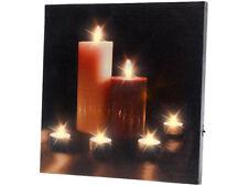 LED Leinwandbild mit romantischem Kerzenflackern