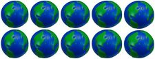 10 x World Planet Earth Globe Squeeze Stress Ball Relief Mood Toy Hand Relief