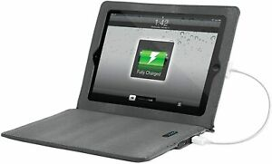 "10"" Tablet for Samsung Apple iPad Li-ion Battery Folio Case - Gray -  11,600 mAh"