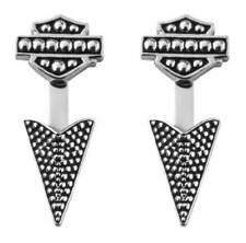 Harley-Davidson Women's Arrowhead Beaded Ear Jackets, Sterling Silver HDE0455
