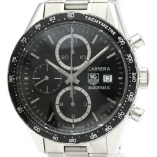 Polished TAG HEUER Carrera Chronograph Steel Automatic Watch CV2010 BF501044