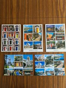 Selection of 5 Postcards of Dublin (Ireland) as new (set 1)
