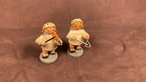 Vintage Angel Band Figures Christmas Germany Erzgebirge Expertic Steinbach Kuhn