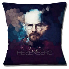 "BREAKING BAD WALTER WHITE HEISENBERG PHOTO PRINT BLACK 16"" Pillow Cushion Cover"