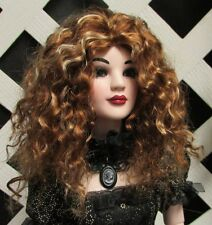 "Doll Wig, Monique Gold ""Ellowyne Rose"" Size 5/6 in Golden Auburn/Golden Stwby"