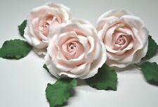 sugar roses set of 3 cake decoration leaves handmade celebration birthday