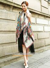 XXXL 100% echt silk Reine Seide Seidentuch Schals scarf Damen 180cmX110cm  009