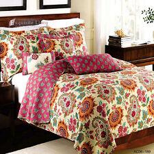 100%Cotton Coverlet Bedspread 3PCS Sunflower Thin Quilt Pillowcases Romantic New