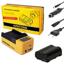 PATONA LCD USB Ladegerät + Akku für Nikon D7000 D7100 D7200 D8000 - ACCU 1600mAh
